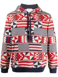geometric print hoodie