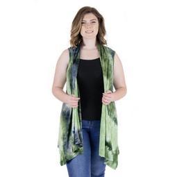 24seven Comfort Apparel Women's Plus Sleeveless Cardigan Vest