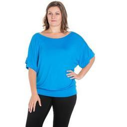 24seven Comfort Apparel Women's Plus Short Sleeve Top