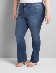 Straight Fit High-Rise Boot Jean