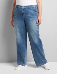 Signature Fit Wide Leg Jean - Medium Wash