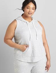 LIVI Sleeveless Hooded Sweatshirt – Bleach Splatter