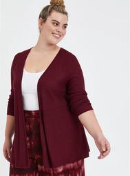 Open Cardigan Sweater - Zinfandel