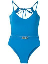 metallic embellishment swimsuit