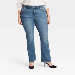 Women's Plus Size High-Rise Bootcut Jeans - Ava & Viv™