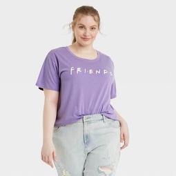 Women's Friends Logo Short Sleeve Graphic T-Shirt - Purple