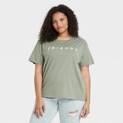 Women's Friends Logo Short Sleeve Graphic T-Shirt - Green
