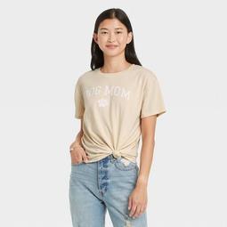 Women's Dog Mom Short Sleeve Graphic T-Shirt - Ecru
