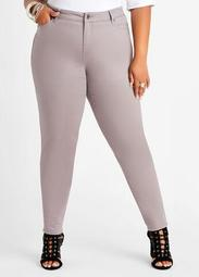 Silver High Waist Skinny Jean