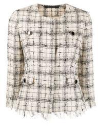 Meg checked tweed jacket