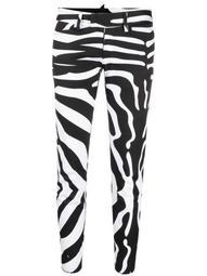 zebra-print cropped trousers