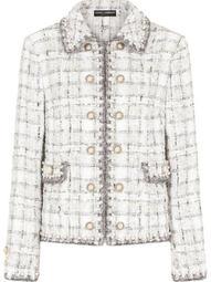 embellished tweed blazer