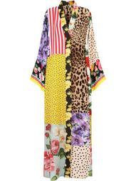 multi-panel V-neck dress