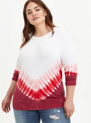Raglan Sweater- Heritage Slub Tie Dye