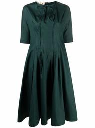 keyhole-detail short-sleeve dress