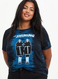 Classic Fit Crew Tee - The Shining Twins Tie Dye Blue & Black