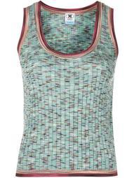 speckle-knit vest top