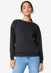 Stud Trim Sweatshirt