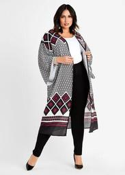 Border Colorblock Kimono Jacket