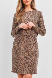 Leopard-Front-Ribbon-Cinch-Waist-Long-Sleeve-Dress