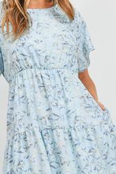 Butterfly-Sleeve-Tiered-Ruffle-Ornamental-Dress-With-Inside-Lining