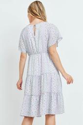 Tiered-Floral-Back-Keyhole-Dress