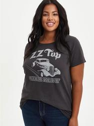 Classic Fit Crew Tee - ZZ Top Vintage Black
