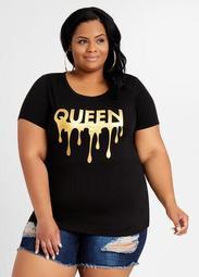 Queen Gold Drip Graphic Tee