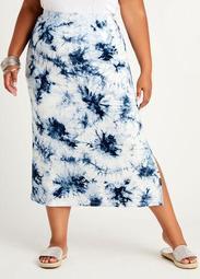 Signature Tie Dye Knit Maxi Skirt