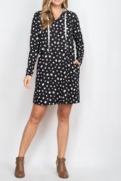 Animal-Print-Long-Sleeve-Self-Tie-Hoodie-Dress