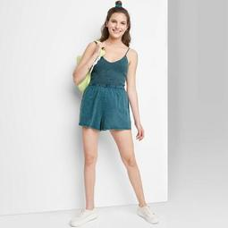 Women's Smocked Top Knit Romper - Wild Fable™