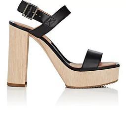 Fauna Bis Leather Platform Sandals
