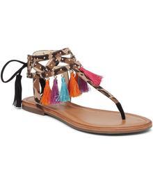 Jessica Simpson Kamel Tassel Flat Sandals
