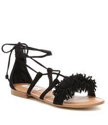 Steve Madden Swizzle Tasseled Pom Pom Sandals