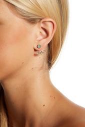 Faceted CZ Detail Ear Jacket Earrings
