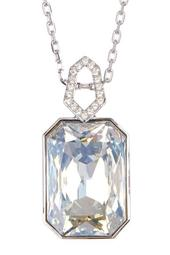 Evanescent Faceted Crystal Pendant Necklace