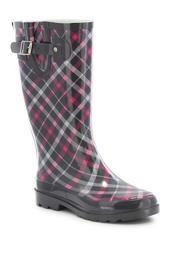 Villa Plaid Rain Boot