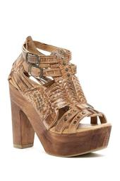 Cindy Leather Platform Heeled Sandal