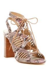 Kayya Snakeskin Embossed Lace-Up Sandal