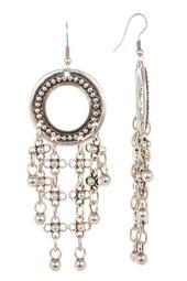 Tassel Open Circle Earrings
