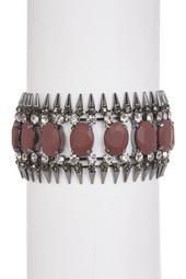 Stone & Spike Cuff Bracelet