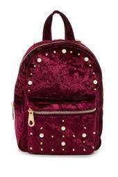 Embellished Velvet Mini Backpack