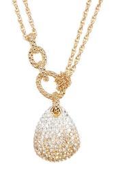 Swarovski Crystal Pave Pendant Layered Necklace