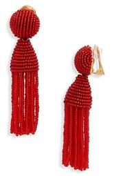 'Classic Short' Tassel Drop Clip Earrings