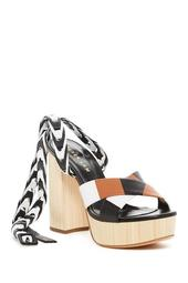 Frida Nappa Leather Crossover Platform Sandal