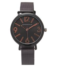 Metal Mesh Round Analog Watch