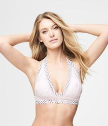 LLD Two-Tone Lace Halter Bralette