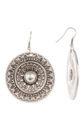 Engraved Circle Earrings