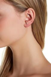 14K Gold Vermeil CZ Suspender Earrings