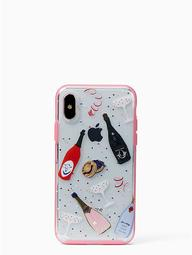 Jeweled Champagne Iphone X Case